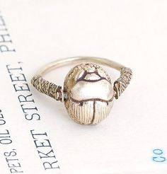 Scarab Spinner Ring