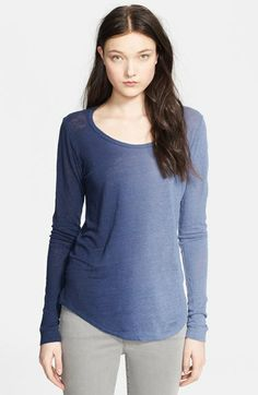Whetherly 'Rosewood' Ombré Linen Top available at #Nordstrom