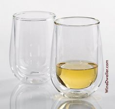 Double Wall Stemless Wine Glass Set