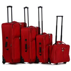 American Travel / Pacific Coast 4-piece Upright Luggage Set | Overstock.com Shopping - Great Deals on Four-piece Sets