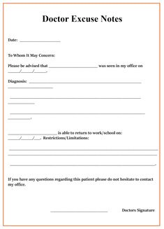 The awesome 013 Free Printable Doctors Excuse Template For School Dats Within Blank Doctors Note Template image below, is section … Best Templates, Templates Printable Free, Card Templates, Free Printables, Doctors Note Template, Notes Template, Free Anniversary Cards, 1st Birthday Invitation Template, Bill Of Sale Template