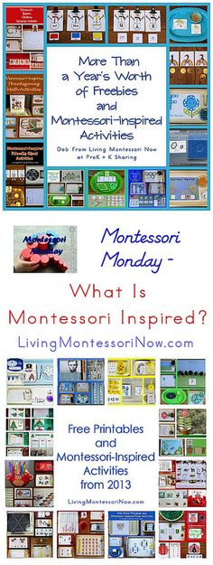 "I've been asked what sorts of activities qualify as ""Montessori inspired."""