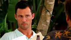 """""""Your method's your business, Sam."""" [Michael]   Pictured: Michael Westen (Jeffrey Donovan) and Sam Axe (Bruce Campbell)"""