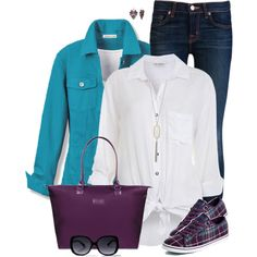 Purple Tote by daiscat on Polyvore featuring polyvore, fashion, style, Miss Selfridge, J Brand, Vans, Lipault, Nak Armstrong and clothing