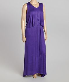 Look what I found on #zulily! Purple Ruffle Maxi Dress - Plus #zulilyfinds