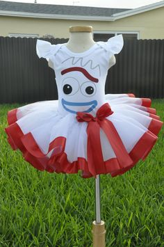 Forky Toy Story inspired Birthday Halloween Tutu Costume Set - Toys for years old happy toys Toy Story Halloween Costume, Toy Story Costumes, Halloween Toys, Scary Halloween, Halloween Party, Jessie Costumes, Cumple Toy Story, Festa Toy Story, Toy Story Party