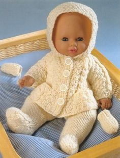 Baby+Doll+Reborn+dolls+clothes+knitting+by+PrettyVintageKnits,+£0.99
