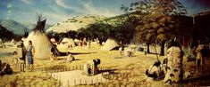 Lipan Apache encampment in the Texas hill country, as depicted by artist George Nelson. Note the large, hide-covered tipis used by later groups when horses were readily available to move the heavy camp materials. Image courtesy of the Institute of Texan Cultures, University of Texas at San Antonio.