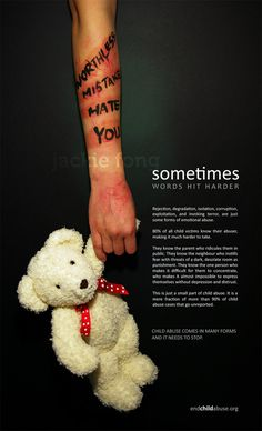 Verbal abuse leaves scars on the heart. Follow this link to creativity and art about abuse.