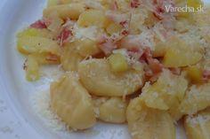 Bezlepkové zemiakové halušky (fotorecept) - Recept Gnocchi, Potato Salad, Macaroni And Cheese, Shrimp, Paleo, Potatoes, Gluten Free, Meat, Ethnic Recipes