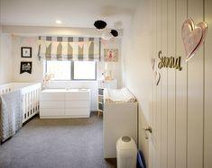 Brodie & Niki Retallick's baby girl nursery with soft pink accents. #babyroom #nursery #girlsbedroom #house #interiordesign #brodieretallick #generationhomes