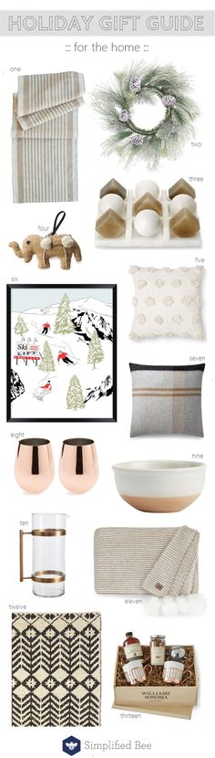 holiday gift guide for home // @simplifiedbee #giftguide #giftguideforhome #homedecor #homeaccessories #holidaygifts2017