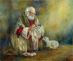 kneeling santa...stunning