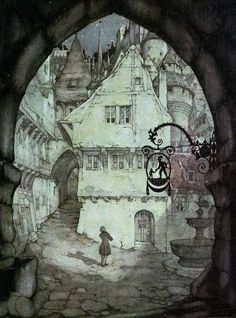 Anton Pieck (big fan since I was a child) Anton Pieck, Arte Tribal, Photo D Art, Fairytale Art, Dutch Painters, Dutch Artists, Children's Book Illustration, Book Illustrations, Botanical Illustration