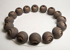 Circular Ceramic Sculptures by Matthew Chambers 4