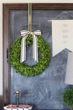 Preserved Boxwood Wreath Base wreath by TheBlaithinBlairShop