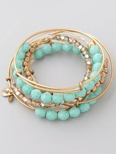 Love Alex and Ani bracelets! Especially these with turquoise! #jewelry #accessories