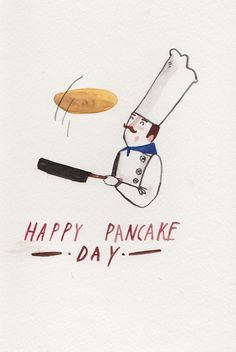 Pancake Day by Dick Vincent Illustration