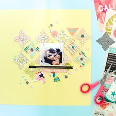 I really love this little die from @kesi_art. Again I used the beautiful Summer Vibes collection. I really love the color combination and elements of this collection it's so fun and easy to work with. You can find all the products you see on this page on @scrapbookwerkstatt shop. #abstractinspiration #ziniaamoiridou #sbw #scrapbooking #scrapbook #scrapbookprocess #scrapbookingprocess #scrapbooklayout #scrapbookinglayout #scrap #sbwdt #scrapbookwerkstatt #kesiart #summervibes #memorykeeping