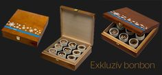 exclusive chocolates in wooden box with promotional full colour imprint | exkluzív csoki bonbonok fadobozban színes reklámfelirattal | www.adgift.hu