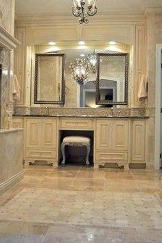Elegant Master Bathroom Suite - Dura Supreme Cabinetry by Essence Design Studio Serious Bling!