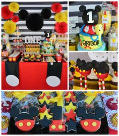 Mickey Mouse themed 1st birthday party via Kara's Party Ideas | KarasPartyIdeas.com (1)