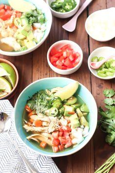 Caldo de Pollo - Traditional Mexican Soup #paleo