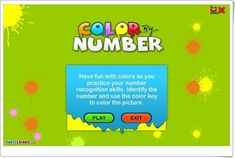 """""""Color by Number"""" Number Recognition, Have Fun, Esl, Numbers, Ideas, 3 Year Olds, Learning Numbers, Interactive Activities, Teaching Resources"""