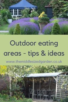 Outdoor living tips and inspiration for small spaces and larger gardens #middlesizedgarden Garden Parasols, Garden Trees, Garden Seating, Outdoor Seating, North Facing Garden, Vintage Garden Parties, Garden Privacy, Garden Party Decorations, Dry Stone
