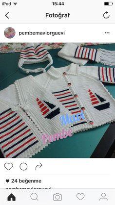 Knitting For Kids, Crochet For Kids, Baby Knitting, Crochet Baby, Knit Crochet, Kids Patterns, Knitting Patterns, Anchor Sweater, Baby Socks