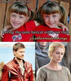Having the same haircut with your twin
