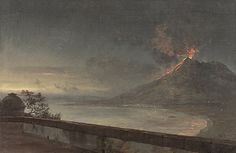 Johan Christian Clausen Dahl»Mount Vesuvius and the Gulf of Naples, seen from the Terrace of the Villa Quisisana, 1820
