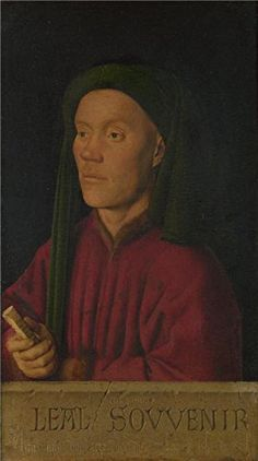 Oil Painting Jan Van EyckPortrait Of A Man1432 30 x 54 inch  76 x 137 cm  on High Definition HD canvas prints is for Gifts And Dining Room Gym And Hallway Decoration topainting