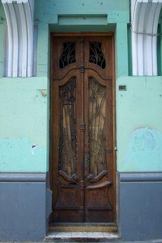 Art Nouveau door. Lima, Peru