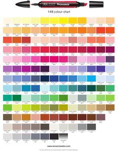Promarker (Winsor&Newton) colour chart
