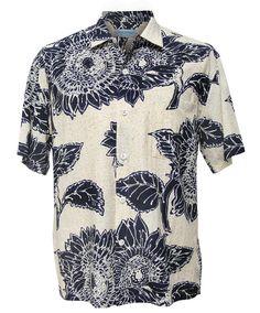 Men's Retro Shirt - Sunflower - Rayon Shirts - Mens