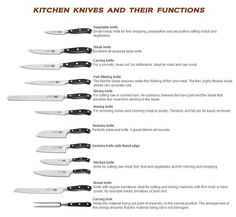 Examples Of Knives There Are Many Different Kinds Of Knives Each With A Specific Use All