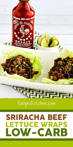 Sriracha Beef Lettuce Wraps are one of my favorite quick low-carb dinners, and anyone who enjoys Sriracha is going to love this tasty dinner idea. Low Carb Keto, Low Carb Recipes, Diet Recipes, Healthy Recipes, Lunch Recipes, Medifast Recipes, Diabetes Recipes, Lamb Recipes, Whole30 Recipes