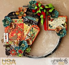 Graphic 45 Nature Sektchbook Happiness Upcycled Embrodiery Hoop by Pam Bray - Photo 1A_4673