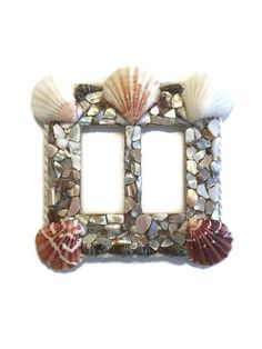 Seashell handmade rocker light switch plate - Ocean Decor  - Beach faceplate - nautical decor - pinned by pin4etsy.com