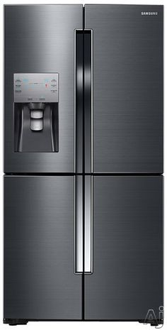 Shop Samsung ft 4 Door Counter-Depth French Door Refrigerator Single Ice Maker (Black Stainless Steel) at Lowe's Canada. Find our selection of refrigerators at the lowest price guaranteed with price match. 4 Door Refrigerator, Counter Depth Refrigerator, Stainless Steel Refrigerator, Door Shelves, Door Storage, Glass Shelves, Storage Drawers, Photoshop, Maker