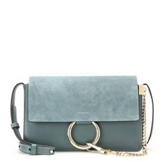 Chloé - Faye Small suede and leather shoulder bag Chain Shoulder Bag, Crossbody Shoulder Bag, Shoulder Handbags, Leather Shoulder Bag, Shoulder Bags, Leather Purses, Leather Handbags, Leather Crossbody, Cute Bags