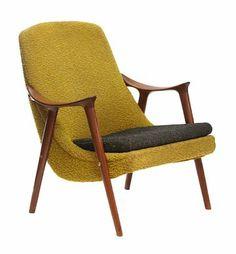 Unattributed Armchair of Scandinavian descent, c1960.