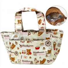 Rilakkuma Insolated Drawstring  Bento Lunch Bag  $22