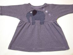 Purple Elephant Baby Dress  Shimmery Purple Applique by griffencat, $18.00
