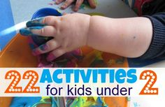 Great list of activities for one year olds (or maybe even my 2 year old!)