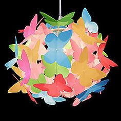 Butterfly Ball Ceiling Light Pendant Shade in Multi Coloured