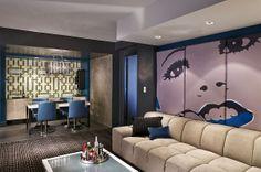 Luxurious W Hotel interior design in Atlanta by Burdifilek