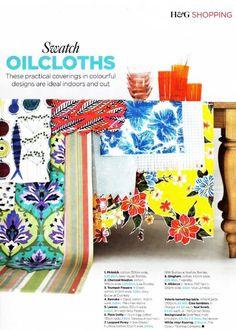 Mismatched oil cloths