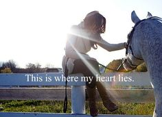 Horses are where my heart lies